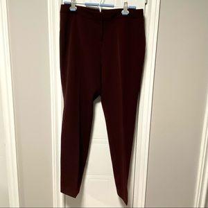 🇨🇦 Rafaella Burgundy Pants -Medium Weight